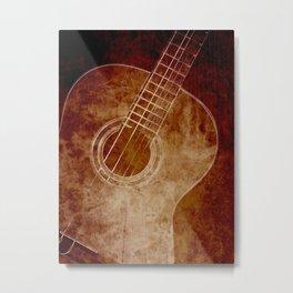 The Color of Music - Guitar Metal Print
