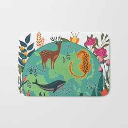 Once Destroyed Nature's Beauty Cannot Be Repurchased At Any Price Bath Mat