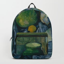 "Paul Cezanne ""Still Life with a Ginger Jar and Eggplants"" Backpack"