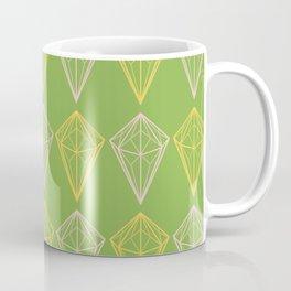 Greenery Diamonds Coffee Mug