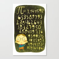 pi Canvas Prints featuring Pi by angry bean