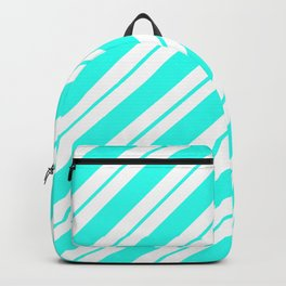Aquamarine Peppermint Stripes Backpack