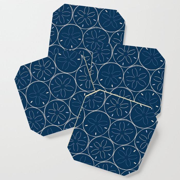 Sanddollar Pattern in Blue Coaster