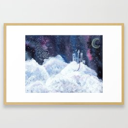 castle in the galaxy painting Framed Art Print