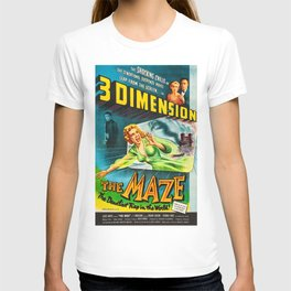 The Maze 1953 - Vintage Film Poster T-shirt