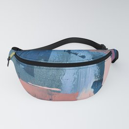 Rhythm of Rain: a modern abstract piece by Alyssa Hamilton Art in blues and pinks Fanny Pack
