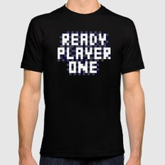 Ready Player One Pixel Art MEDIUM Black Mens Fitted Tee
