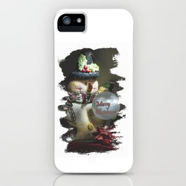 Merry Christmas Art iPhone Case