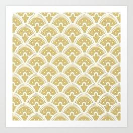 Fan Pattern Gold 201 Art Print