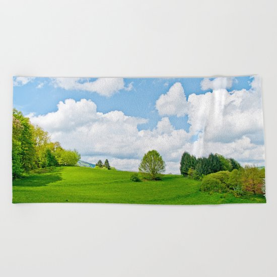 Wonderful spring Beach Towel