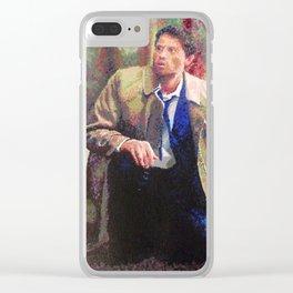 Supernatural: Castiel Clear iPhone Case