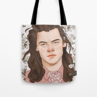 coconutwishes Tote Bags featuring H Pink by Coconut Wishes