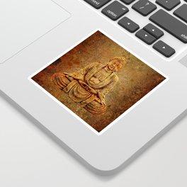 Sand Stone Sitting Buddha Sticker