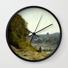 "Jean-Baptiste-Camille Corot ""The Departure of the Boatman"" Wall Clock"