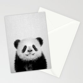 Panda Bear - Black & White Stationery Cards