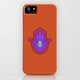 Hand of Fatima - Hamsa Hand - Orange iPhone Case