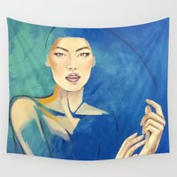 oriental Wall Tapestries featuring Oriental silk by Tabita Valsecchi Art