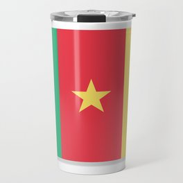 Flag of Cameroon.  The slit in the paper with shadows. Travel Mug