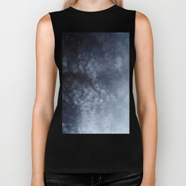 Blue veiled moon Biker Tank