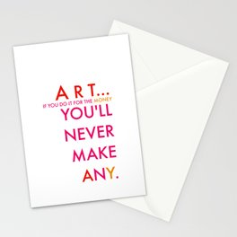 art and money Stationery Cards