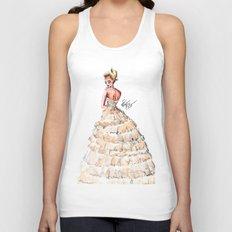 Fashion Watercolor Couture Gown Unisex Tank Top