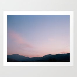 Sand Dune, Sunrise, FILM Art Print