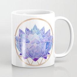 Violet Zen Lotus Coffee Mug