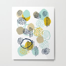 Jamm - abstract art painting brushstrokes modern minimal paint trendy colors hipster gender neutral  Metal Print