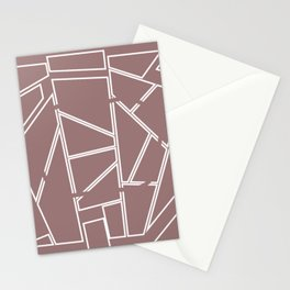 Block Line abstract pink Triangles Stationery Cards