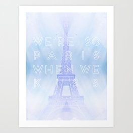 One Direction: So Paris Art Print