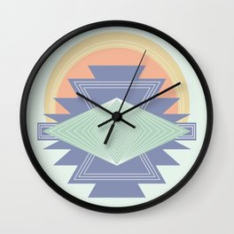 PASTEL DREAM RAYS Wall Clock