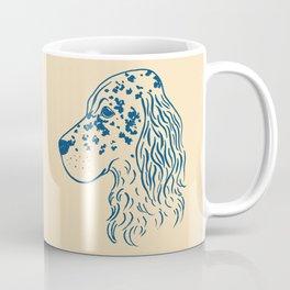 English Setter (Beige and Navy) Coffee Mug
