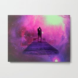Kiss into the universe Metal Print