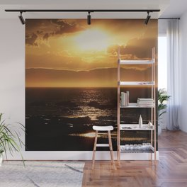 Silver lining on Clouds at Sunset Wall Mural