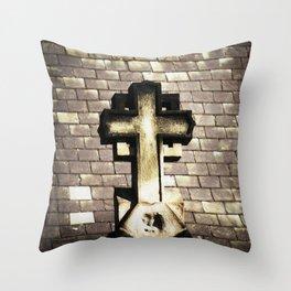 SAINT STEPHENS CHURCH CROSS Throw Pillow