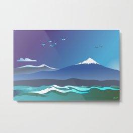 Mont Taranaki From The Sea Metal Print