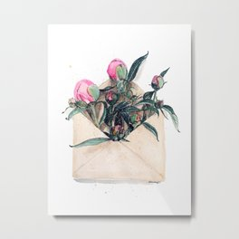 Snd me some peonies love Metal Print