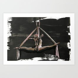 Subtle Splits Triangle Art Print