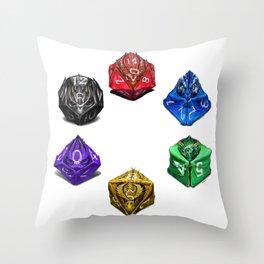Dragon Dice poster T-Shirt Throw Pillow
