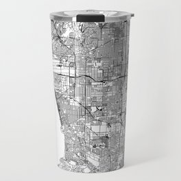 Los Angeles White Map Travel Mug