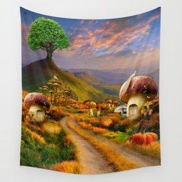 Hidden Village Wall Tapestry