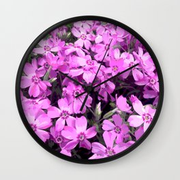 Creeping Phlox Wall Clock