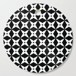 Geometric Pattern 247 (white crosses) Cutting Board