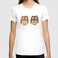 owls T-shirts featuring Owls by sheena hisiro