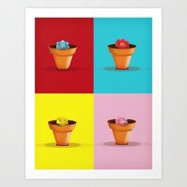 Four Pots Art Print