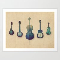 justin timberlake Art Prints featuring Good Company by Amy Hamilton