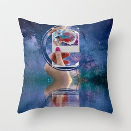 Siamese Fighting Fish by GEN Z Throw Pillow