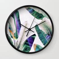 tropical Wall Clocks featuring tropical #1 by LEEMO