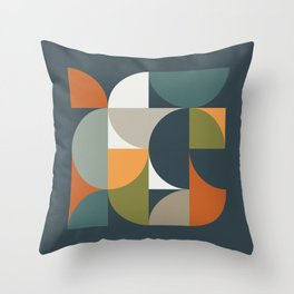 Mid Century Geometric 12/2 Throw Pillow