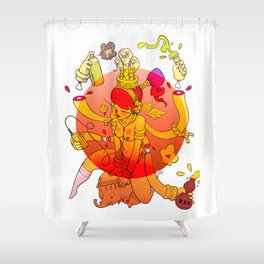Naga Boo Shower Curtain